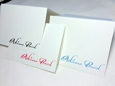 50 Personalized Custom Note Cards & Envelopes, Blank Inside Thank You Stationery