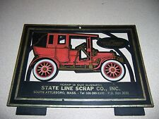 VTG ANTIQUE CAR SIGN - STATE LINE SCRAP SOUTH ATTLEBORO MA.
