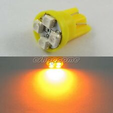 20x T10 yellow orange  3528 4 LED Wedge Tail Car Light Bulb 194 168 W5W 12V Lamp