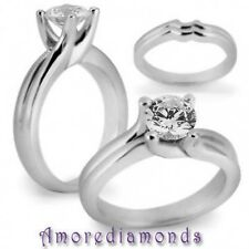 4.1 ct H I1 round triple excellent ideal cut genuine diamond solitaire ring gold