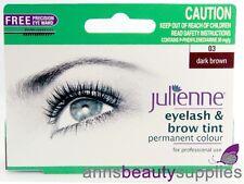 Julienne Eyelash & Eyebrow Tint Permanent Dye Beauty Tinting Student DARK BROWN