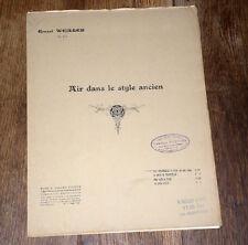 air dans le style ancien Op.479 partition violoncelle piano 1920 Ernest Weiller