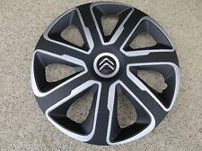 4 Alu-Design Radkappen 15 Zoll Livorno silber/black Carbon für Citroen