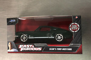 GREENLIGHT FAST & FURIOUS SEAN'S FORD MUSTANG GRREN/WHITE PAINT 1:32 SCALE