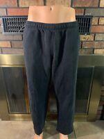 Nike Dri Fit Black Embroidered Swoosh Warmup Sweatpants Mens Size Large Yellow