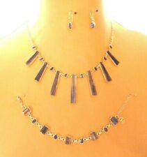 The Silver Lady,Gems Set~Necklace,Bracelet & Earrings,quartz/Amethyst New in Box