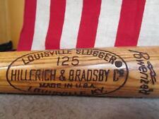 Vintage Louisville Slugger Wood Baseball Bat Billy Williams HOF Villanova Univ.