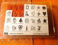 Stampin' Up! Rubber Stamps 1999 Miniature Favorite UNMOUNTED Set of 22