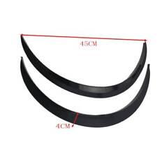 2PCS Carbon Fiber Car Wheel Eyebrow Arch Trim Lips Strip Fender Flare Protector