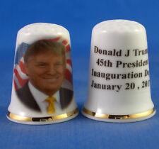 Birchcroft Porcelain China Thimble - Donald Trump Inauguration Day - Free Box