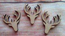 10x Stag Heads  Laser Cut  MDF 40mm size  Craft Blanks/ Shapes  Scrapbooking
