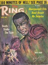 APRIL 1967 THE RING BOXING MAGAZINE WITH DICK TIGER ON THE COVER