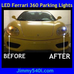 *LED PARKING LIGHTS* - FERRARI 360 -Modena/Spider/Challenge Stradale CS F360 F1