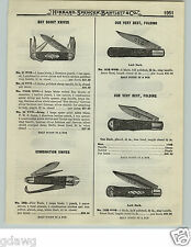 1919 PAPER AD OVB Our Very Best Scout Pocket Knife Press Button The Victor Fold