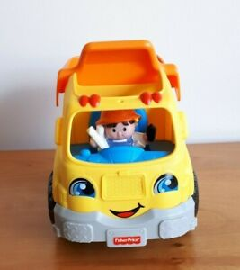 Fisher Price Little People Dump Truck + 1 Figure - Toy Sound Music Working