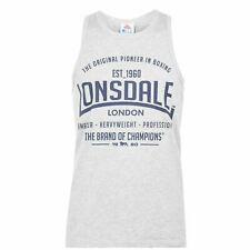 Lonsdale Mens Boxing Vest Top Tank Sleeveless Scooped Neck Lightweight Print
