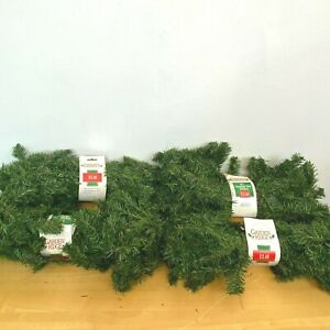 Garden Ridge Canadian Pine 9 ft Garland Lot of 4 Christmas 180 needles NOS XM