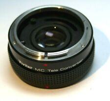 Vivitar MC 2X Lens Teleconverter Extender for Canon FD manual focus 50mm f1.8