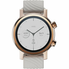 Motorola 360 WearOS Touchscreen Smartwatch 42.5MM for iPhone & Android (Gen 3,Ro