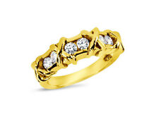 Natural 0.90ct Diamond Wedding Band Ring 18k Yellow Gold Round I Si2 Channel New