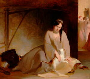 Thomas Sully Cinderella at the Kitchen Fire Poster Giclee Canvas Print