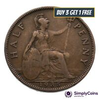1911 TO 1936 GEORGE V HALF PENNY / HALF PENNIES CHOICE OF YEAR / DATE