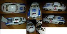 VOITURE CAR BURAGO 1/24 MERCEDES 300 SL N 3 RALLYE CARRERA PANAMERICAINE DIECAST