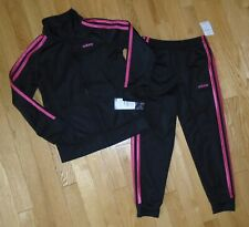 Adidas Girls Track Suit Athletic Pants Jacket Black Pink 6 NWT *ALMOST GONE*