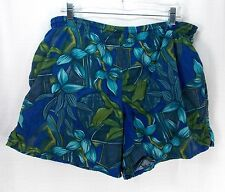 SPEEDO Men's VINTAGE Nylon Swim Trunks Suit Hawaiian Tropical Pattern Size Large