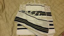 Beautiful Jewish Prayer Shawl / Tallit - Size 18 - Made In Israel - Black & Gold
