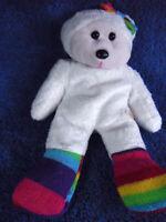 *1918a*  Zaidee the rainbow socks Bear - Skansen Beanie Kids - plush - 20cm