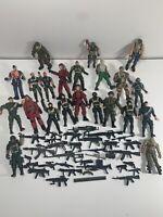"Huge Lot Of 22 Military Action Figures. 3.75"" Lanard Chap Mei Accessories"