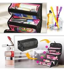 Roll N Go Travel Organiser Toiletries Makeup Bag Toiletries Pockets Compartment