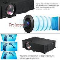 Full HD Wifi Mini LED Projector Home Cinema Multimedia 1080P HDMI 3D Black MT
