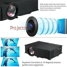 Full HD Wifi Mini LED Projector Home Cinema Multimedia 1080P HDMI 3D Black UP