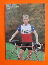 CYCLISME carte cycliste WESSEL DUBBE équipe AMSTEL BIER 1986