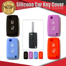 Silicone Car Key Cover 2 Button Fits PEUGEOT 207 307 308 407 4 Colours