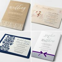 Personalised Wedding Invitations Cards Postcard Day or Evening