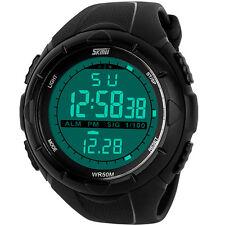 5 ATM Wasserdicht Sport Armbanduhr Fashion LCD Digital Sportuhr Chronograph Uhr