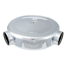 """Spectre 98699 Low Profile Polished Airbox Air Cleaner 16"""" Diam., Dual 4"""" Inlets"""