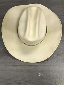 Men's Serratelli White Straw Cowboy Hat Size 7.25