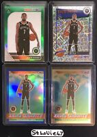 (4x) Kevin Durant 2019-20 NBA Hoops Premium Stock LOT- Laser-Blue Prizm-Green
