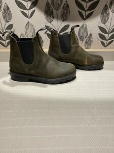 Blundstone Olive Green Chelsea Boots Size 5.5, AUS, 8.5 US