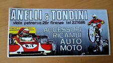 Adesivo Sticker ANELLI e TONDINI Ricambi Accessori Auto Moto Firenze cm 19 x 9,5