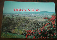 BEGA, NSW - AERIAL VIEW FROM LOOKOUT VINTAGE 1980's POSTCARD  Australia