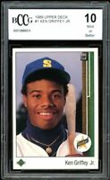 1989 Upper Deck #1 Ken Griffey Jr Rookie Card BGS BCCG 10 Mint+
