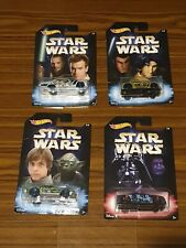4 Star Wars - Hot Wheels Cars - New in Packet