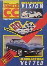 Custom Car magazine 12/1986 featuring MVS Venturi, Zender