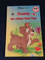 Libro Ancien Scamp Un Perro Todos Crazy Club de La Libro Mickey Disney