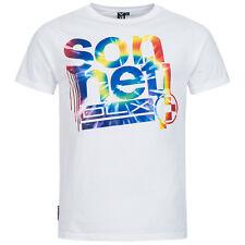 Mens Crew Neck Sonneti Top Tee T-shirt 100 Cotton Regular Fitting White L